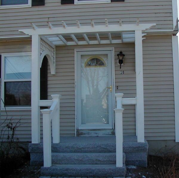 Front Door Entry Ways: Pergola Entrance Designs